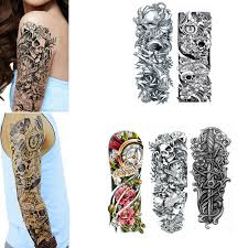 Details About 5 Large Temporary Body Art Arm Leg Tattoo Sticker Sleeve Man Women Waterproof Us