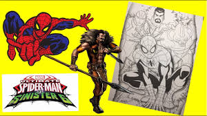 Coloring pages of the ultimate spiderman. Marvel Ultimate Spiderman Vs Sinister 6 Coloring Page Youtube