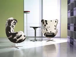 arne jacobsen egg chair in black and white pony cow hide arne jacobsen egg chair leather black