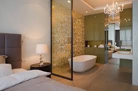 modern bedroom with bathroom. Modern Bedrooms With Bathroom En Suite Bedroom