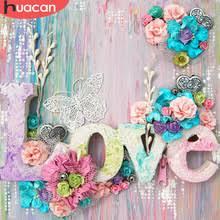 HUACAN <b>5D DIY алмазная</b> живопись цветы полная квадратная ...