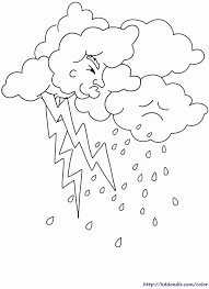 Small Picture Rain Coloring Pages Coloring Home