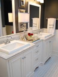 white bathroom cabinets with dark countertops. Image Of: White Bathroom Cabinets With Lights Dark Countertops T