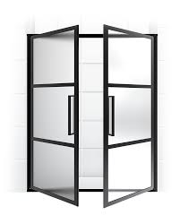 steel frame doors. Clever Ideas Black Steel Framed Shower Doors Gridscape Series Coastal Frame Manufacturer
