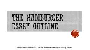 the hamburger essay outline