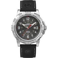 mens timex expedition watch timex t49988 men s expedition black leather watch indiglo date t499889j