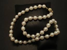 white akoya baroque pearls 8mm 9ctgold ball clasp