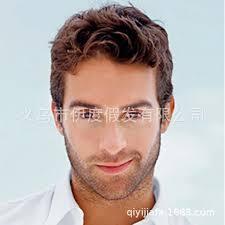 New <b>cross</b>-<b>border</b> e-commerce men's short brown straight hair ...
