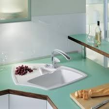 white kitchen sink with drainboard. Drop In Corner Kitchen Sink With Single Bowl Enameled Cast Iron And Drainboard White