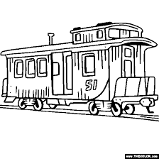 Small Picture Train and Locomotive Online Coloring Pages Page 1