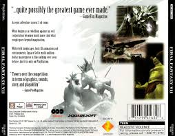 Blissfull: Final Fantasy 7 Ps1 Box Art
