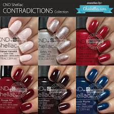 Cnd Shellac Contradictions Collection Swatches Chickettes