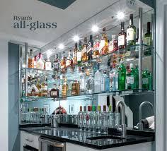 mirrored home bar home bar back wall home bar glass shelves wet bar