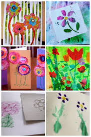 flower art projects for kids to make plus more spring art projects for kids