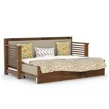 sofa cum bed. Strip Sofa Cum Bed Gloss Honey Finish - Wooden Sofas Living Room