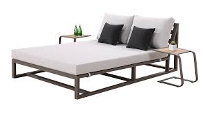 tribeca modern outdoor double chaise lounge