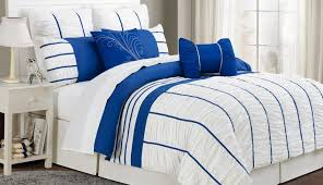 beautiful sets check linen linens comforter striped duvet bedding cover white blue navy and sheets covers