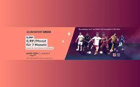 Amazon: Eurosport Player für 99 Cent im Monat (7 Monate) – inkl. Bundesliga  Live by DAZN auf Eurosport 2 HD Xtra – mit Prime