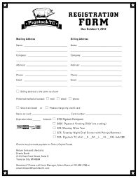 Referral Form Templates Registration Form Template