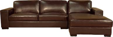 Classic Full Grain Leather Sleeper Sofa With Right Chaise And Track