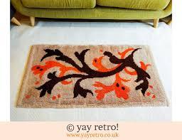 1960 70s orange rug 59 00