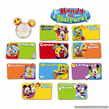 Mickey Mouse Job Chart Mickey Mouse Clubhouse Handy Helpers Job Chart Mini Bulletin