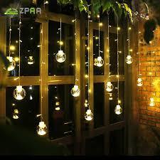 outdoor fairy lighting. ZPAA 3M 138LED Ball Globe String Lights Curtain Fairy Light Backyard Patio Decorative Outdoor Lighting