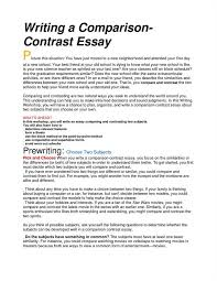 Compare And Contrast Essay Sample College Compare Contrast Essay Outline Example Wikihow