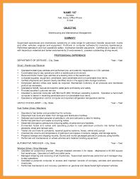 9 Warehouse Resume Objective Resume Pdf