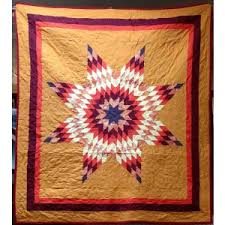Native American Star Quilts   Products Prairie Edge & Native American Made Fall Colors Full Sized Star Quilt Adamdwight.com