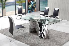 plisset italian designs glass dining table with angel chairs