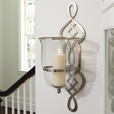wall sconce ideas elegant looking silver finish iron