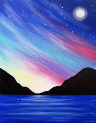bright full moon paint party