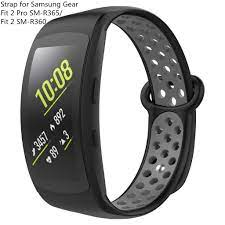 Dây đeo đồng hồ thể thao bằng silicon mềm dành cho đồng hồ thông minh  Samsung Gear Fit 2 / fit2 Pro