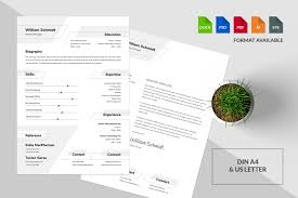 Resumecv Template William In Resume Templates On Yellow Images
