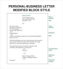 Define Personal Business Letter Sample Professional Letter Formats