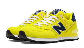 new balance yellow shoes. womens new balance wl574poi pique polo yellow navy running shoes a