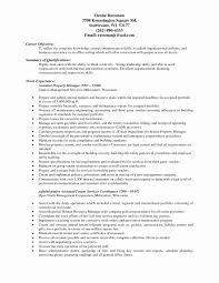 Assistant Manager Resume Sample Best Of Property Management Resume