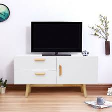 Image Shelves Ebay Contemporary Tv Cabinet Stand Unit Drawers Large Living Storage With Wood Legs Ebay