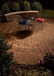 circular patio backyard patio paver