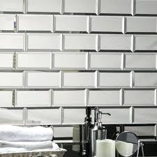 mirror tiles for walls echo 3 x 6 mirror glass l stick subway tile in silver mirror tiles for walls
