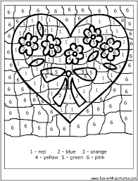 Numbers Coloring Pages At Free Printable Valentines Day Color By