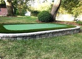 outdoor putting green kits. Backyard Putting Green Diy How To A On The Cheap Dirty Golf Outdoor Kits T