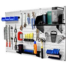 Metal Pegboard Standard Tool Storage Kit with White Pegboard and Black Peg  Accessories-30WRK400WB - The Home Depot