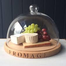 cheese board glass dome