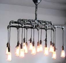 diy pipe lighting. Pipe Chandelier Fresh Industrial Custom Rustic And Cloth Cord Diy Black  Chandelie Lighting