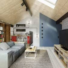 Home Designs: Pitched Ceiling Design - Warm Industrial