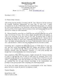 Letter Of Recommendation For Medical Doctor Writing Letters Of Recommendation For Medical School Sample Letter