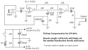 guitar pickups combinations volume tone compensation circuit