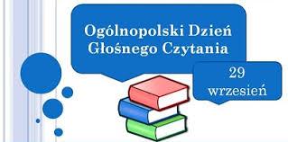 Znalezione obrazy dla zapytania ogólnopolski dzień głośnego czytania